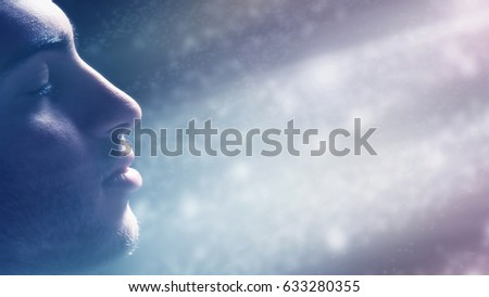 Man Immersed in the Light #633280355