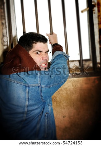 Man in a cell