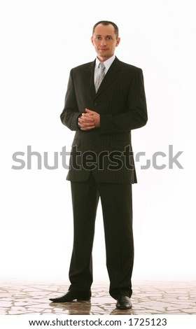 man in a suit,looking a little like russian president on white background