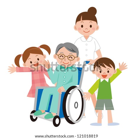 Man in a wheelchair - stock photo
