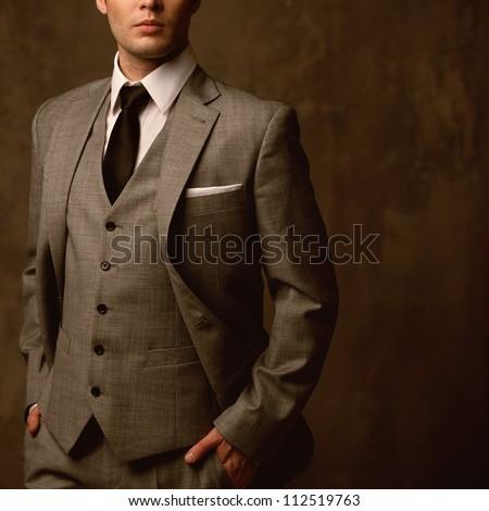 man in classic suit