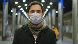 Man in Face Mask. Covid-19. Epidemic Coronavirus Mers. Corona Virus. Pandemic Flu. Subway Station. Human Masked 2019-ncov. Train Metro Tube. People. Male Health Care. Smog Air Filter.