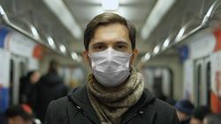 Man in Face Mask for Covid-19. Subway Station. Corona Virus. Epidemic Coronavirus Mers. Pandemic Flu. Human Masked 2019-ncov. Train Metro Tube. People. Male Health Care. Smog Air Filter.