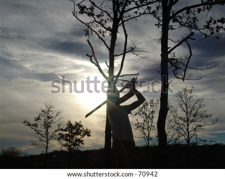 Man in front of Sunset