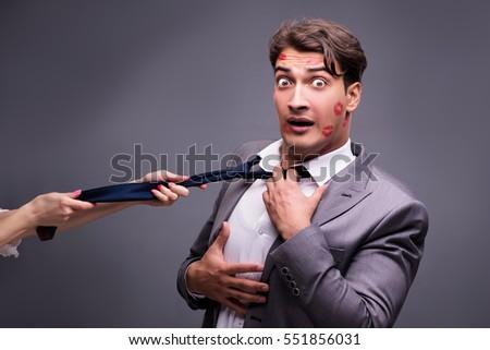 Man in funny romantic concept