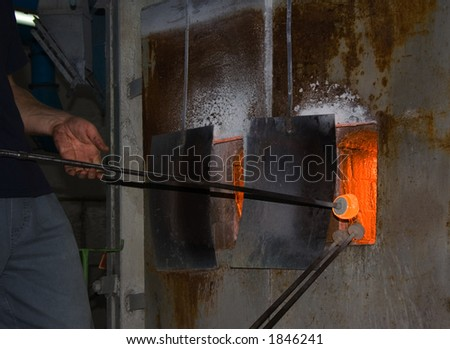 man in glasses hot furnace