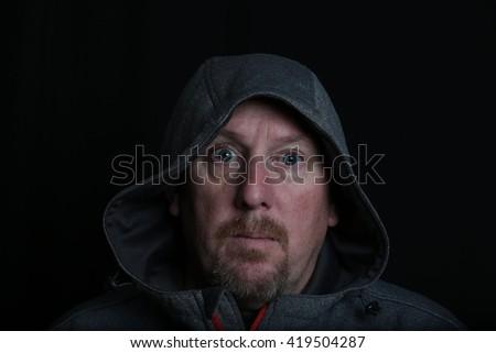 Man in grey hoody. #419504287