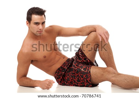 Man in Heart Boxers
