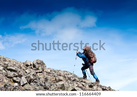 man in hike
