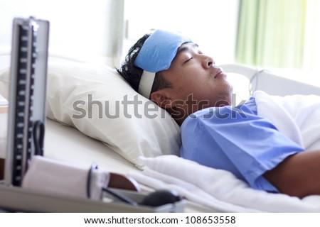 man in hospital