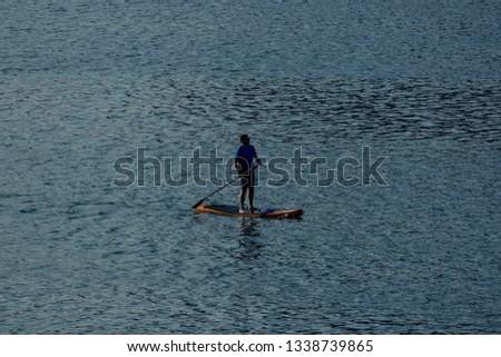 man in kayak, beautiful photo digital picture