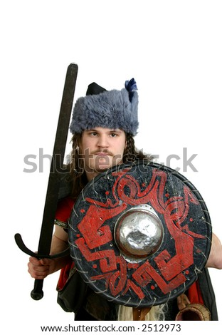 man in medieval clothes with a sword