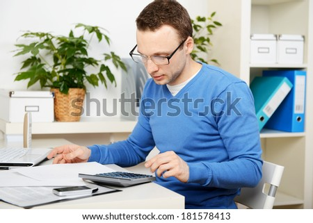 man in office, businessman at work