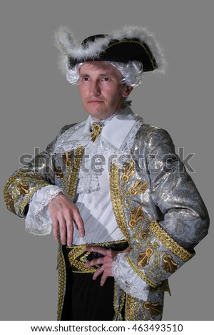 man in 18th century embroidered ...