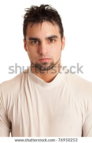 Man in Wet Shirt