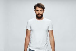 man in white t-shirt template