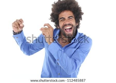 Man is dancing - stock photo