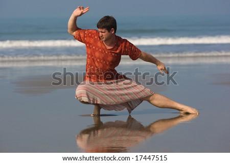 man is doing east gymnastic