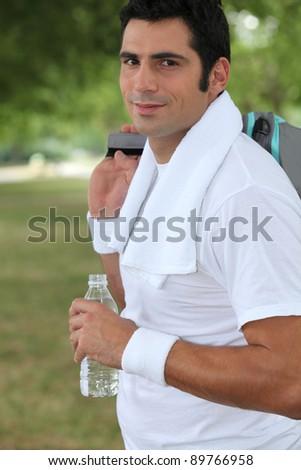 Man leaving the gym