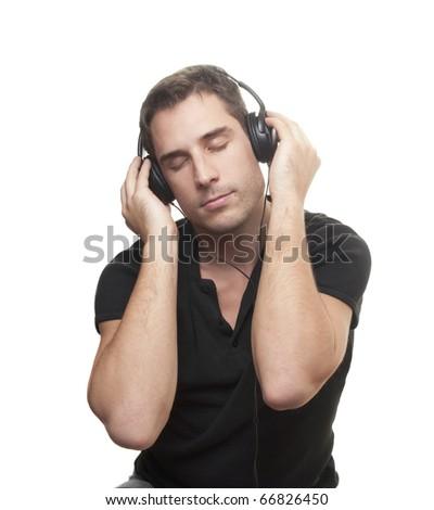 man listening the music