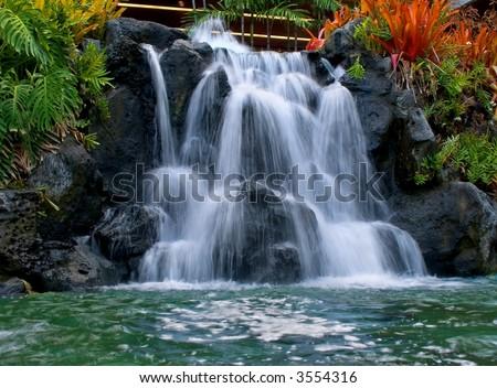 Man-made waterfall in Waikiki Hawaii #3554316