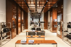 man men clothing and accessories luxury store  interior