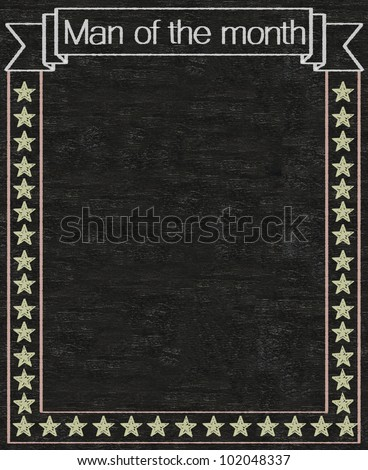 man of the month written on blackboard background high resolution, easy to use - stock photo