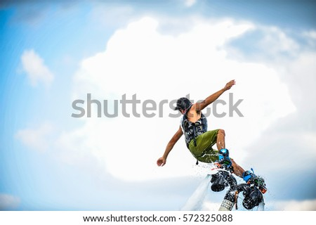 man on flyboard. #572325088