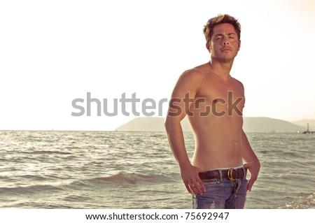man on the beach, Versilia Italy