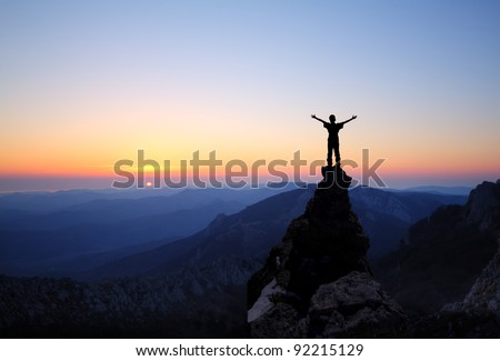 man on top of the mountain...