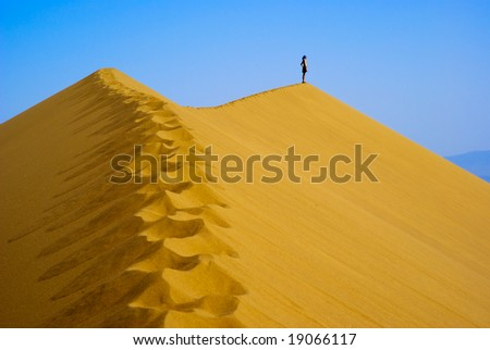 Man on top Sand Dune