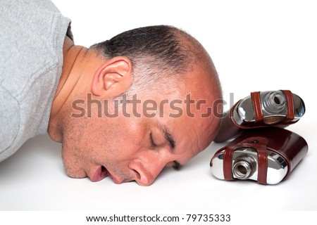 Man passed out after drinking
