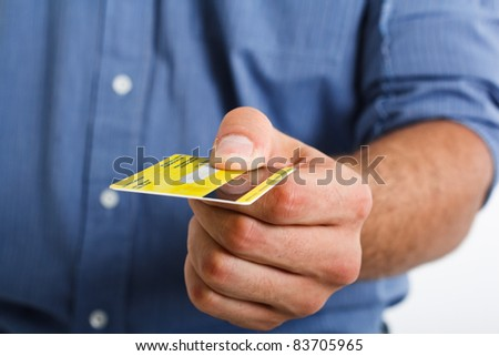 Man paying using a credit card