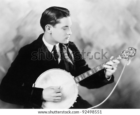 Man playing a banjo