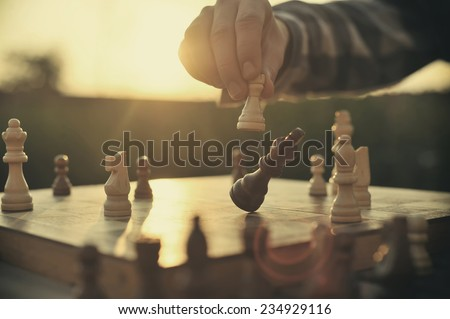 Photo of  Man playing chess