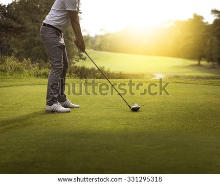 Man playing golf #331295318