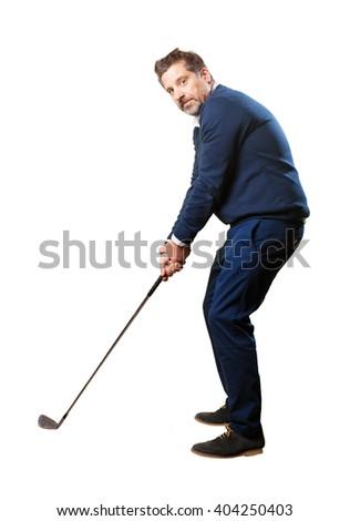 man playing golf #404250403