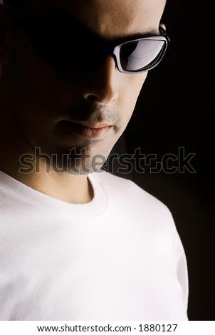 Man portrait with eyeglasses
