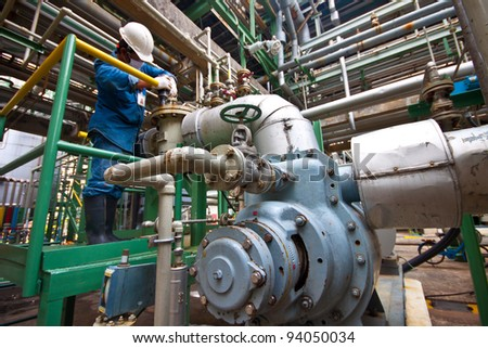 man power working in factory - stock photo