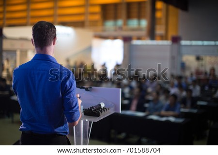 Man Presenting to Audience