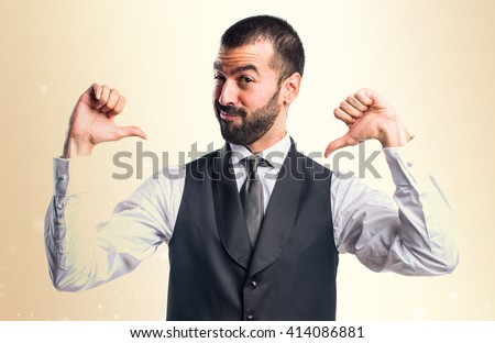 Man proud of himself