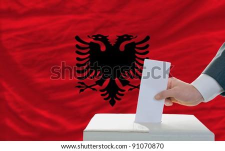 Albania - national flag outline maps