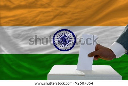 India - national flag and outline maps
