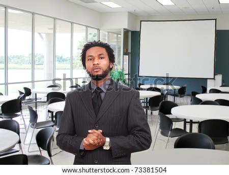 Man ready for the presentation
