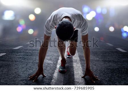 Man ready to run #739685905