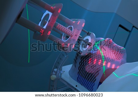 Man Receiving Electron Radiation Therapy Treatments for Cancer
