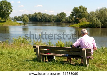 Man resting near the river