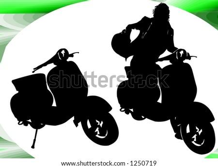 Vespa Italian Motor Scooter sticker - Auto-Moto