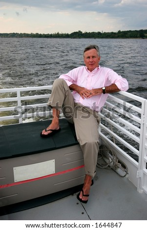 man riding on boat