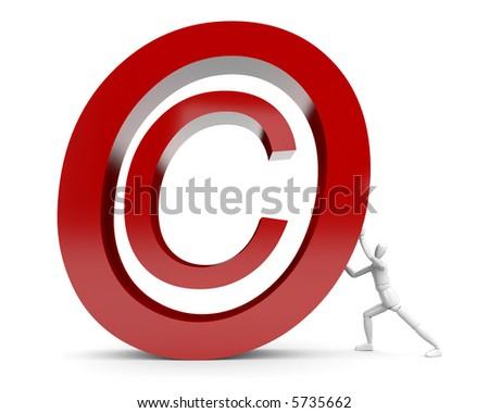 Man rolls Copyright Mark